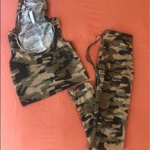 2 piece camo women's outfit